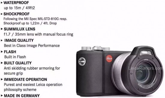 Leica-X-U-Typ-113-waterproof-and-shockproof-camera-specifications-550x328
