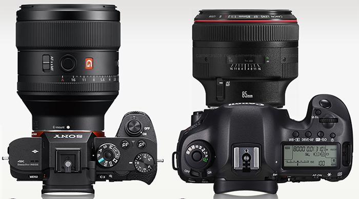 Comparison Canon Ef 85mm F 1 2 Vs Sony 85mm F 1 4 Gm By