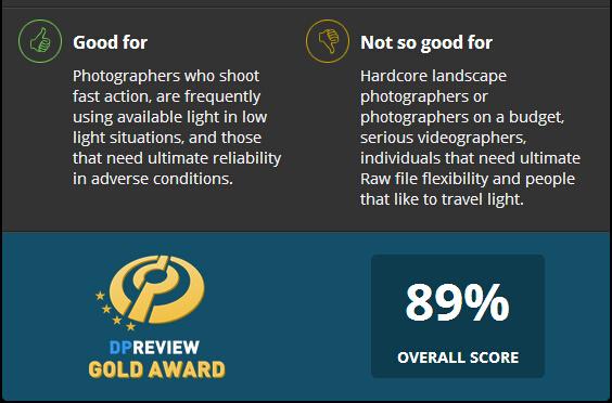 Nikon D5 Gets Gold Award at DPReview | Camera Times