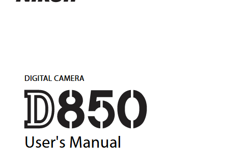Nikon-D850-Users-Manual