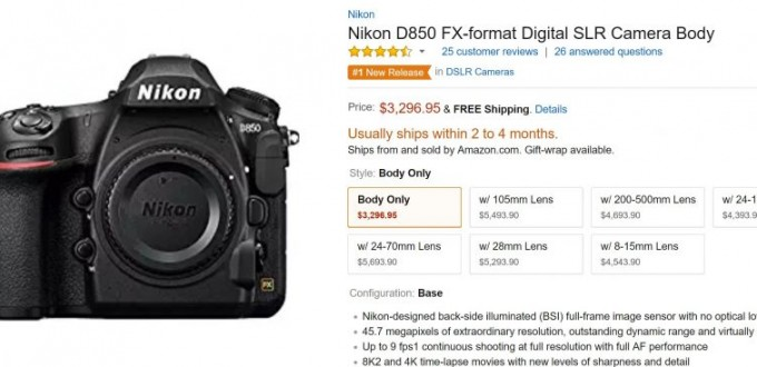 Nikon-D850-Amazon-Shipping-Update