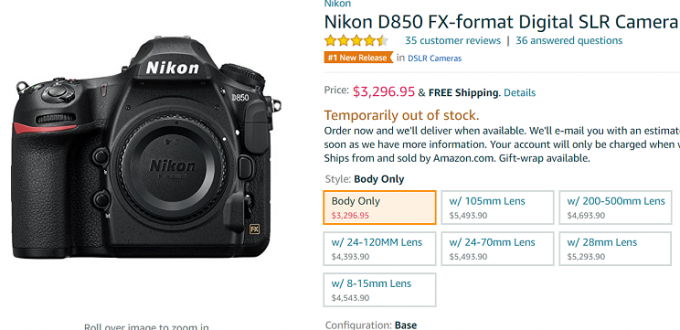 Nikon-D850-Shipping-at-Amazon
