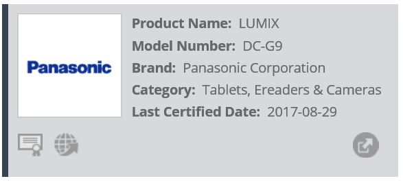 Panasonic-Lumix-G9-Registered-at-Wi-Fi-Alliance