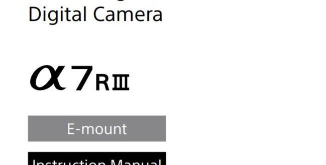 Sony-a7r-iii-manual