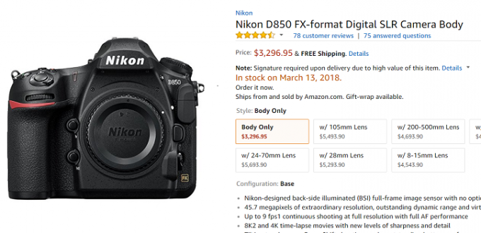 Nikon-D850-in-Stock-Amazon
