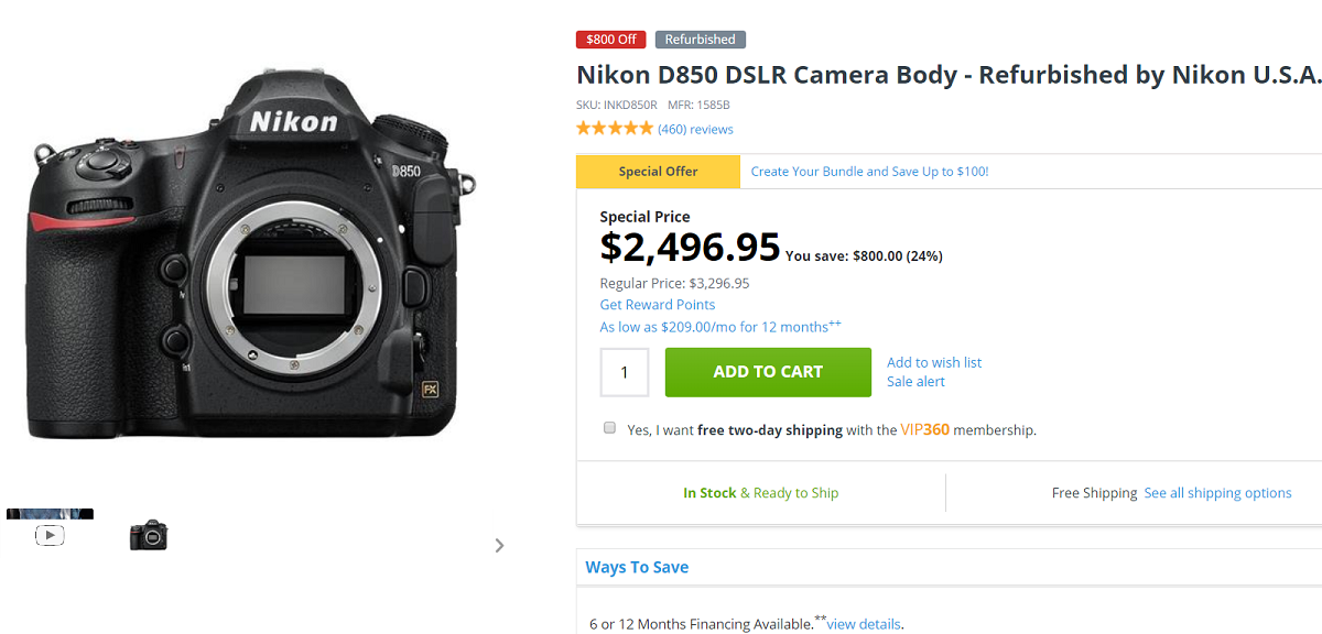Nikon D850 Deals / Cheapest Price | Camera Times