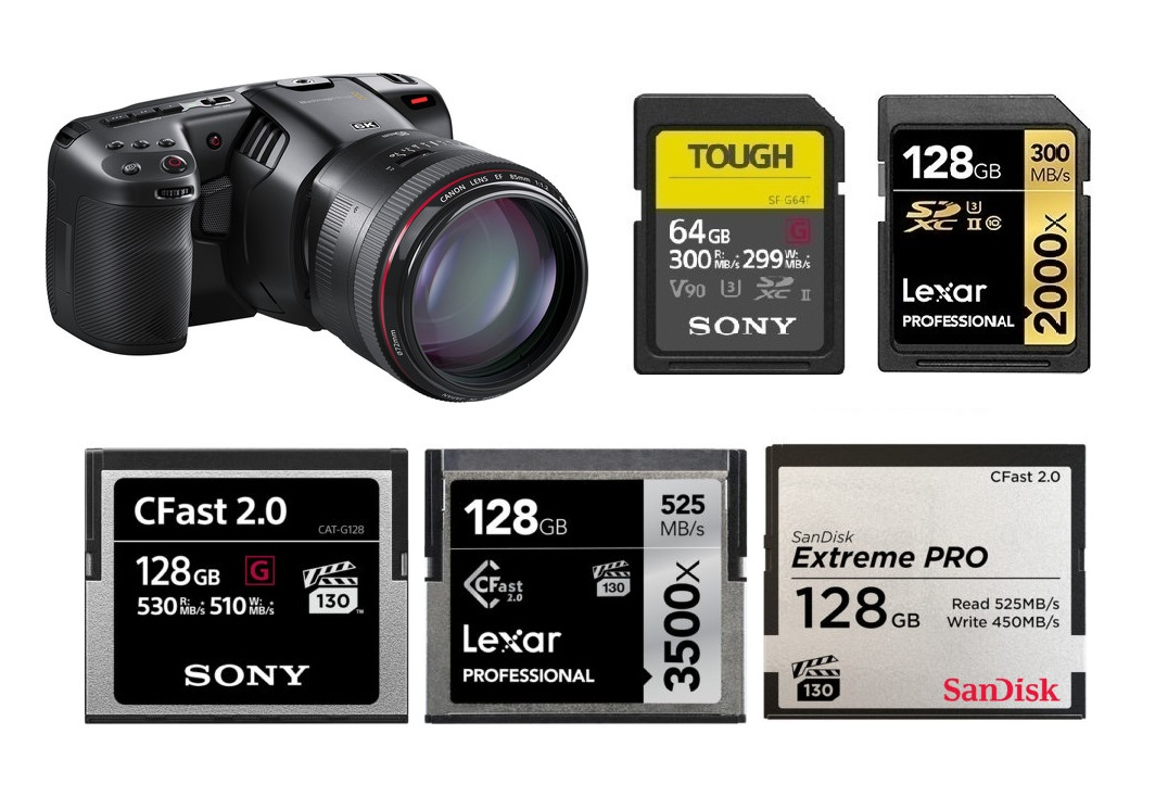 Best Memory Cards For Blackmagic Design Pocket Cinema Camera 6k Camera Times