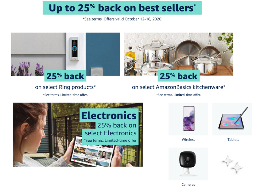 Exclusive Amazon Prime Card Offers Up To 25 Back On Best Sellers Camera Times